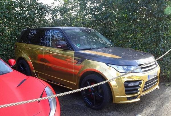 Aubameyang's metallic gold Range Rover Sport Mansory