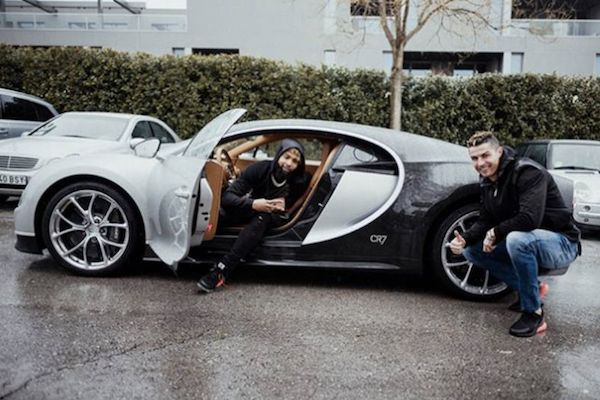 The Bugatti Chiron of Ronaldo