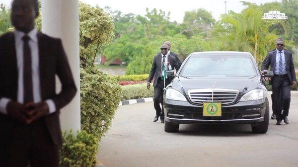 The Vice President Osinbajo's Armoured Mercedes Benz S Class S550