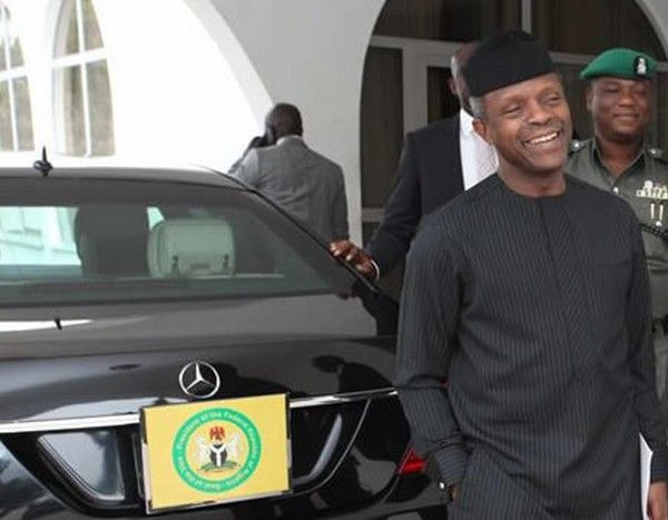 Mercedes Benz S Class S550 and Prof Yemi Osinbajo