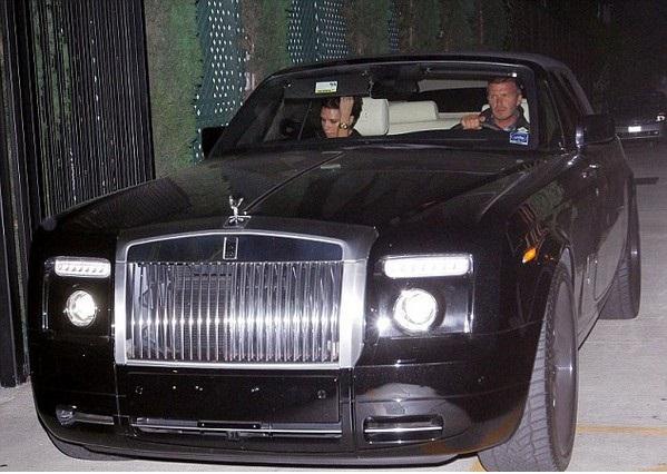 Beckham in his Rolls Royce Phantom