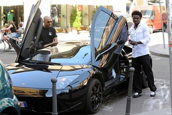 Obafemi Martins beside his N50M Lamborghini