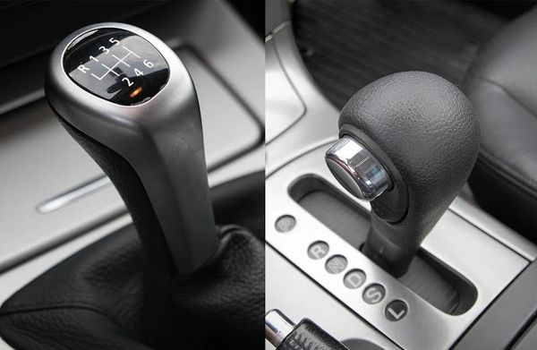 manual vs automatic shift knobs