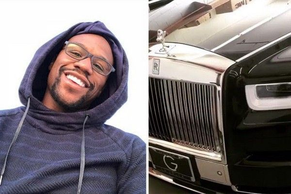Floyd Mayweather and his birthday gift, an all-new 2018 Rolls Royce Phantom