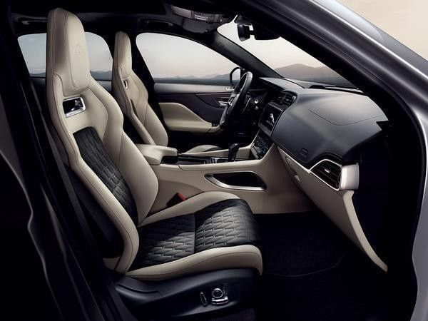 The interior of the Jaguar F-Pace SVR