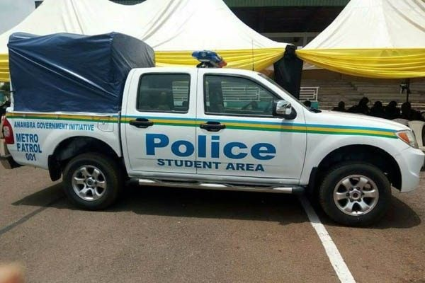 A truck distributed to the Anambra Police