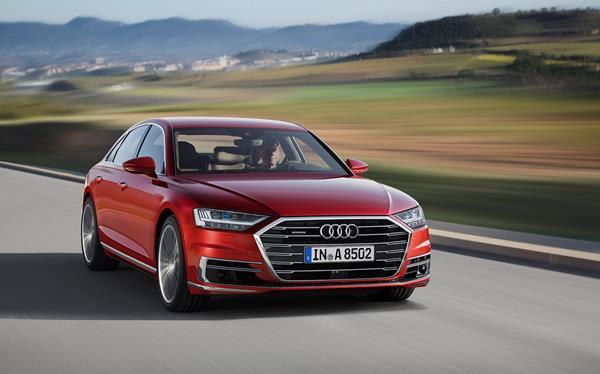 An Audi car