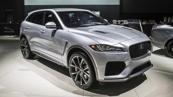 2019 Jaguar F-Pace SVR at the 2018 New York Auto Show