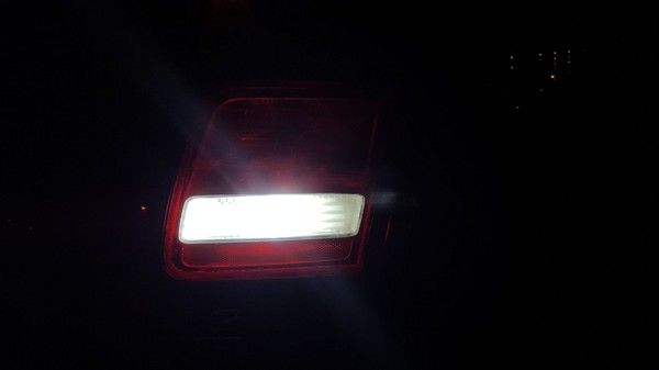 The dimming light of a car