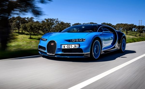 Bugatti Chiron angular front
