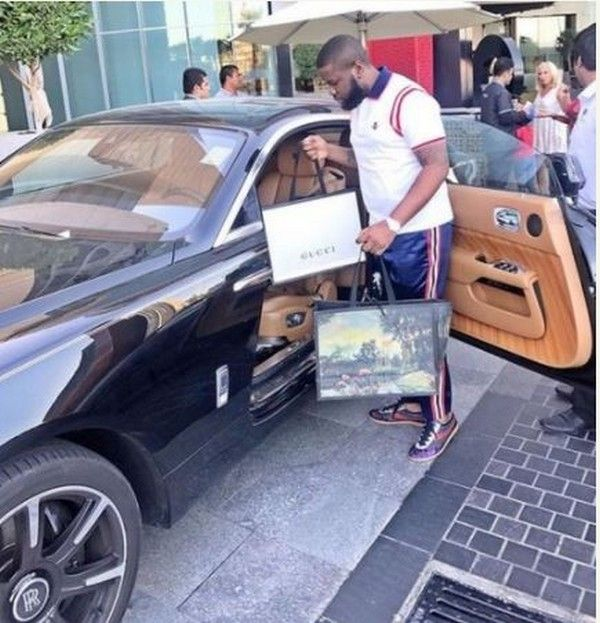 Hushpuppi and his Rolls Royce Wraith
