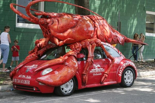 a lobster car