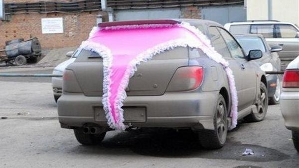 car with a thong