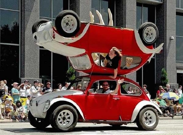 double decker car