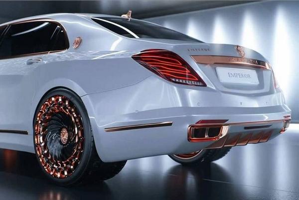 Mercedes Maybach S600 Emperor 2016 angular rear