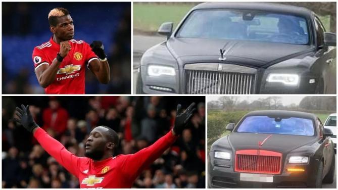Paul Pogba and Romelu Lukak's  £276k Rolls-Royce