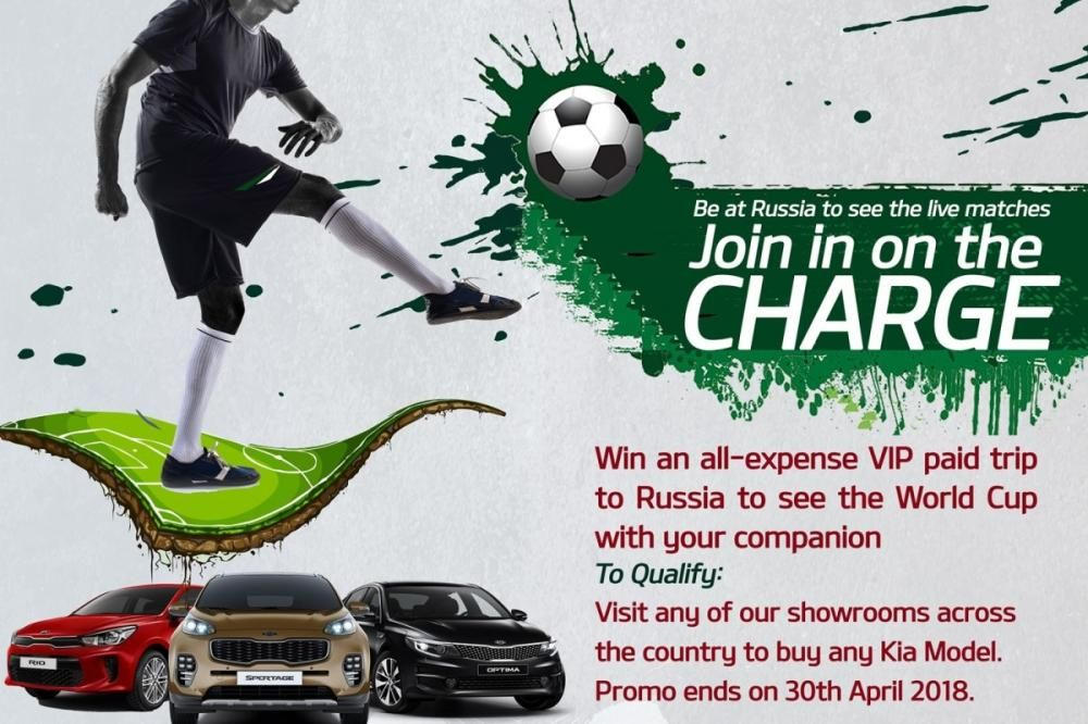 Get a free Russia trip to FIFA World Cup Russia with Kia