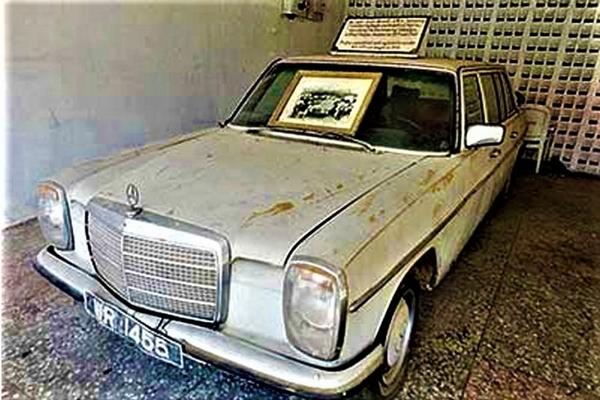 Obafemi Awolowo's Mercedes-Benz angular front