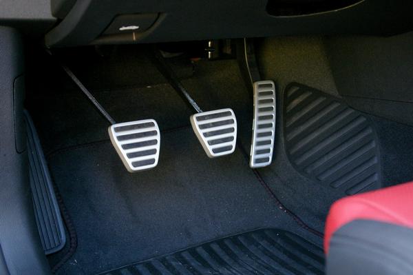 Clutch, brake and accelerator of a car