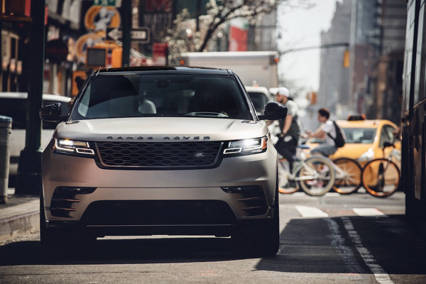 The front of the Range Rover Velar
