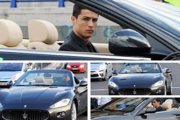 Ronaldo in the Maserati GranCabrio (2011)