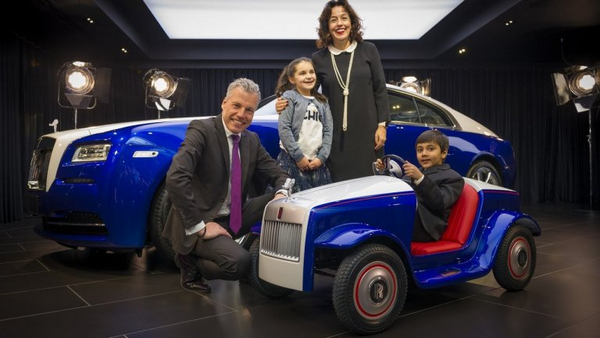 the exclusive Rolls-Royce SRH for children at the St Richard's hospital and people