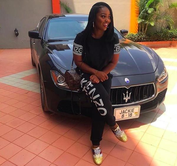 Jackie Appiah and her all-new Maserati Ghibli.