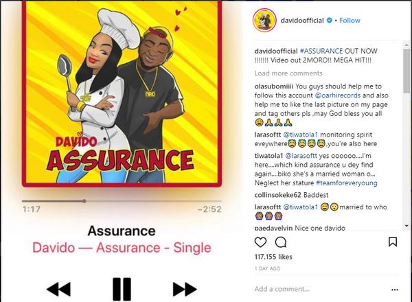 Davido released his track
