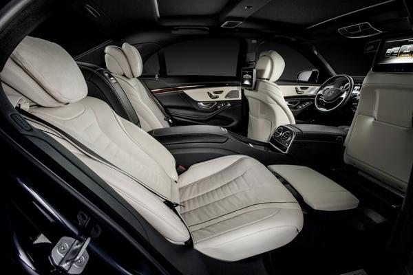 Interior of an mercedes-Benz