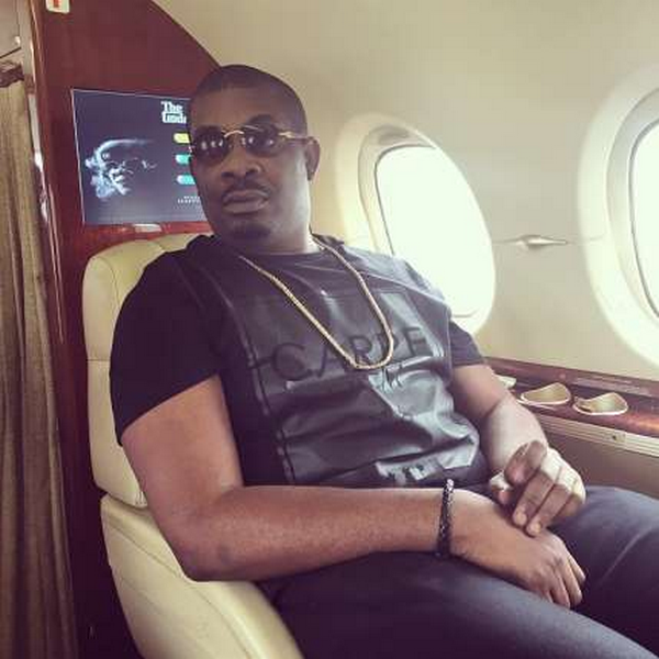 Don Jazzy in his private jet