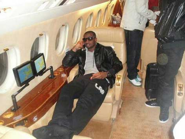 P Spare in his private jet
