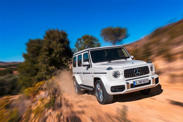 Mercedes-Benz g63 on the road