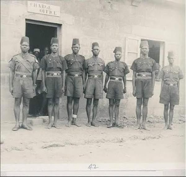 Nigerian Police uniform in 1948