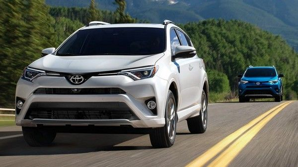 Toyota RAV4 on the road