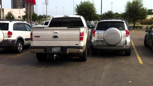 Fail to park a pickup truck