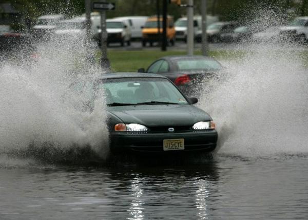 Cars in rain