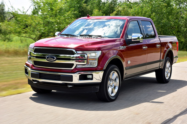 angular front of the Ford F-150