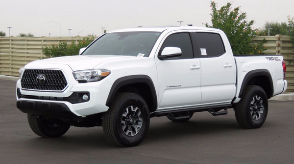 angular front of the Toyota Tacoma