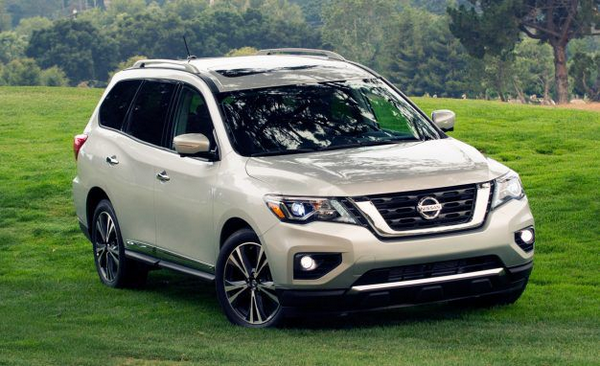 angular front of the Nissan Pathfinder