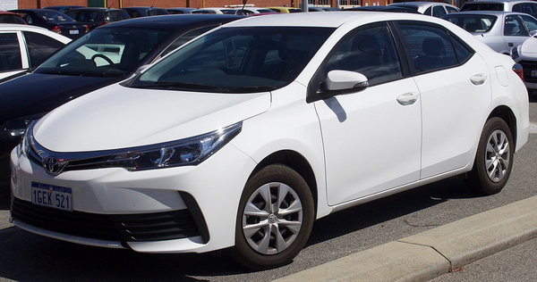 angular front of the Toyota Corolla