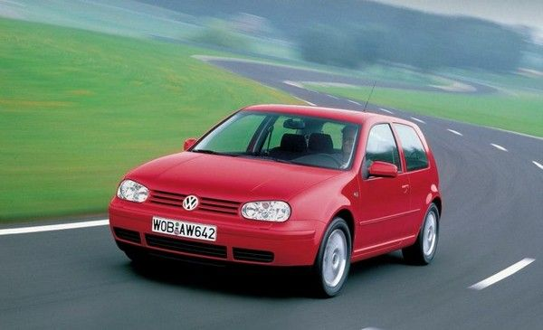 Volkswagen Golf 3 on the road