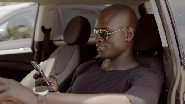 using phone behind the wheel