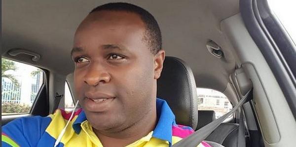 Femi Adebayo behind the wheel