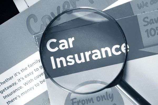 a line of text of car insurance