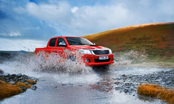 Toyota Hilux crossing water