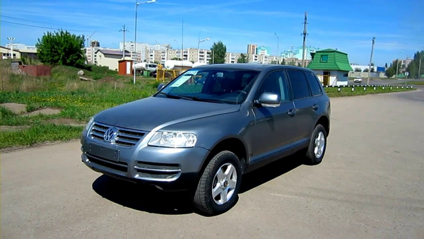 Angular front of the Volkswagen Touareg