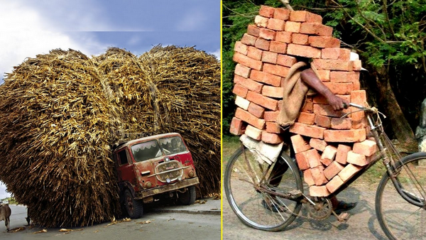 The hilarious pictures of overloaded vehicles playing with Death