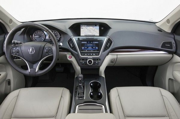 Acura ZDX dashboard area
