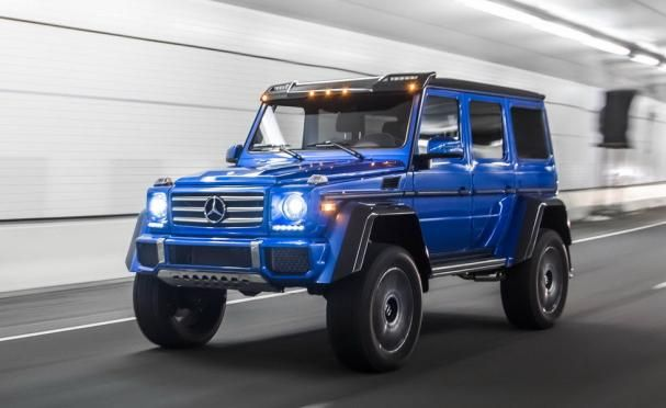 Mercedes-Benz G550 4×42 on the road