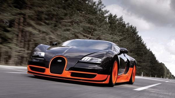 Angular front of the Bugatti Veyron